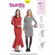 6364 Burda Pattern: Misses' Knit Dresses